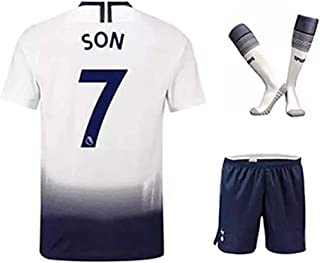 ZXAOYUAN Heung-Min Son #7 Kids/Youths Home Soccer Jersey & Short & Socks Kit White