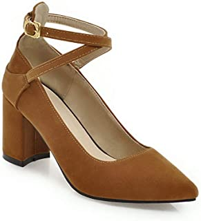 BalaMasa Womens Casual Business Solid Urethane Pumps Shoes APL10613