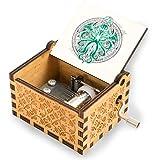 Gran caja de música de madera vintage Cthulhu para cumpleaños, aniversario, boda, día de la madre