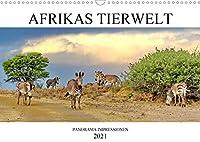 AFRIKAS TIERWELT パノラマ印象派 (Wandkalender 2021 DIN A3 quer)