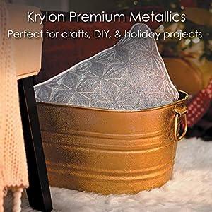 Krylon K01000A07 Premium Metallic Spray Paint, 18K Gold - 8oz