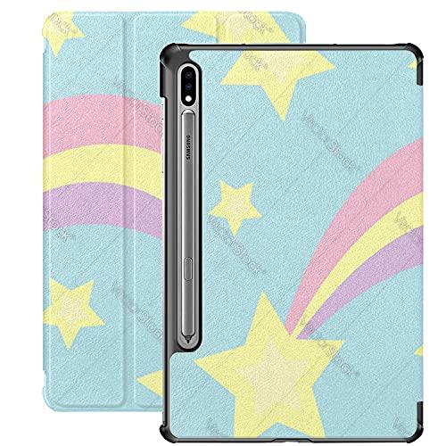 Funda para Galaxy Tab S7 Funda Delgada y Liviana con Soporte Funda para Samsung Funda para Galaxy Tab S7 Tablet 11 Pulgadas Sm-t870 Sm-t875 Sm-t878 2020 Release, Comet Meteor Flame con Icono de Estre