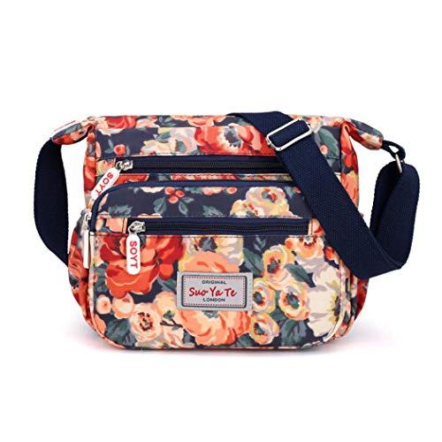 Womens Casual Cross Body Bag Multi Pocket Messenger Handtas voor reizen wandelen winkelen of dagelijks gebruik