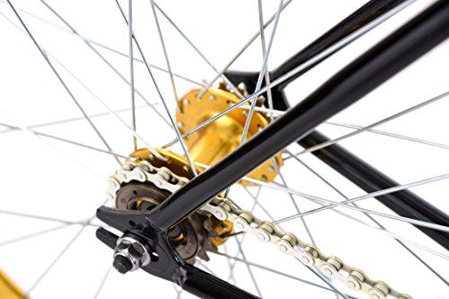 """KS Cycling Fixie Fitnessbike 28"""" Pegado schwarz-Gold RH 53 cm - 3"""