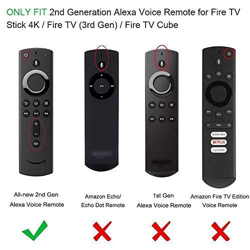 リモコンカバー 5.9インチ Fire TV Stick 4K / Fire TV(第三代 対応)/ Fire TV Cube 専用リモコンカバー シリコン製 耐衝撃 防水防塵 軽量 滑りとめ 衝撃吸収 シリコン 保護ケース リモコン用保護カバー