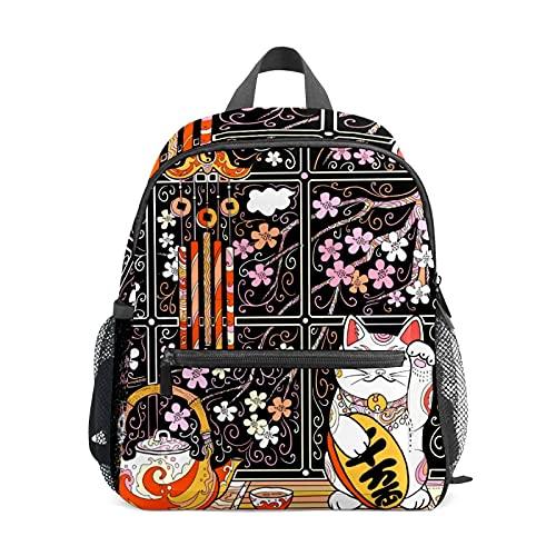 Mini mochila japonesa Neko Cat pequeña mochila para mujeres 12 pulgadas bolsa de viaje bolsa de escuela para niñas y niños