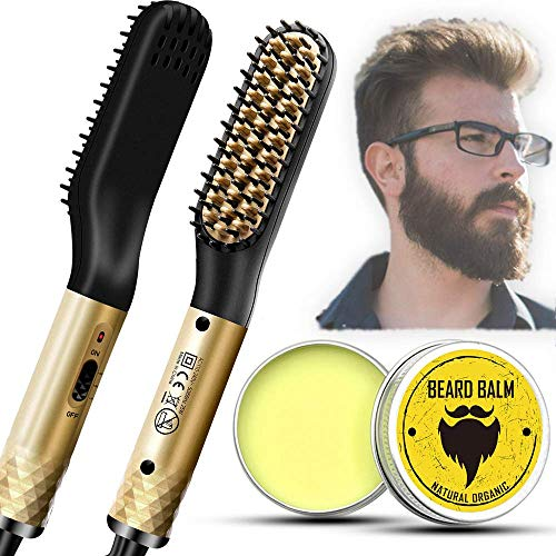 (50% OFF) Electric Heated Beard Comb W/ FREE Beard Balm $9.49 – Coupon Code