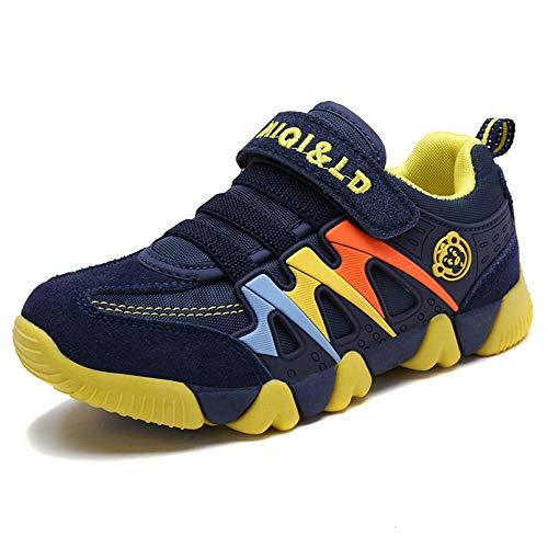 KVbabby Turnschuhe Kinder Sneaker für Jungen Sportschuhe Mädchen Hallenschuhe Atmungsaktiv Laufschuhe Für Unisex-Kinder Outdoor Gelb 28 EU=Etikettengröße:29