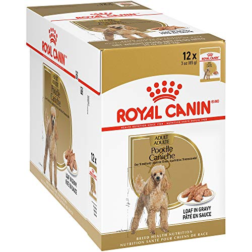 Royal Canin Breed Health Nutrition Poodle Loaf in Gravy Pouch Dog Food, 3 oz Pouch (Pack of 12), 722985