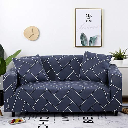 WXQY Funda elástica Blanca para sofá Funda elástica Ajustada Funda para sofá de la Sala de Estar Todo Incluido Funda de sofá antiincrustante Funda de sofá para Silla A10 4 plazas
