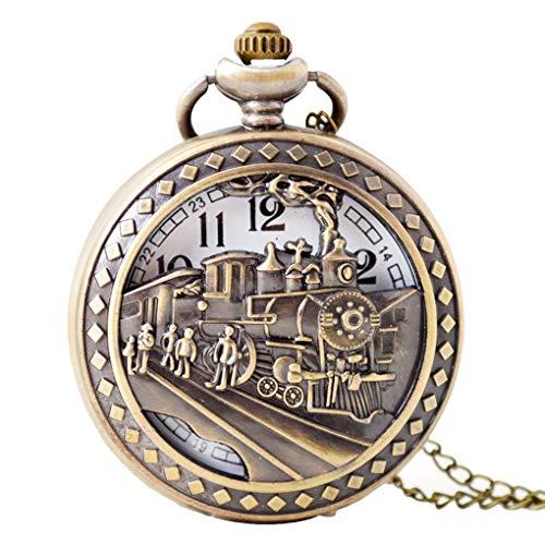 LEVEL GREAT Huecos tallados de época Fuera el Reloj de Bolsillo Negocio de la aleación Cadena de Acoplamiento de Las Mujeres Reloj de Bolsillo Colgante, Collar de Hombres