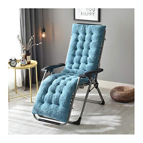 Cuscino per sedia a dondolo in finta lana cachemire, cuscino per sedia a dondolo in vimini, per interni ed esterni 160x50 cm Blue
