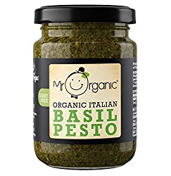 Vegan, Organic and Delicious! Made using the finest basil from Genoa, the home of pesto. Dairy Free 2 servings as a sauce, but many more as a spread!