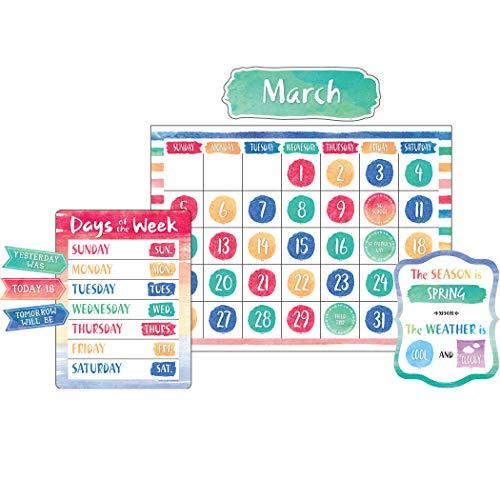 Teacher Created Resources Watercolor Calendar Bulletin Board - 8971