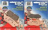 EBC HH Front & Rear Brake Pads Set - Triumph Bonneville 01-15 FA196HH|FA214/2HH