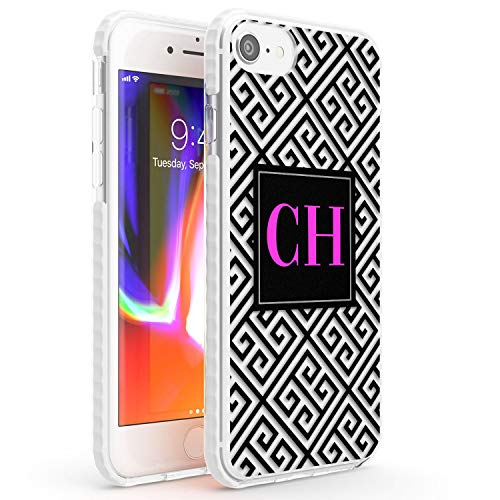 Personalizzato Nero Monogram Aztec Impact Cover per iPhone 7 Plus TPU Protettivo Phone Leggero con Modo Caldo Tendenza Custom Neon Rosa