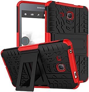 جراب Samsung Galaxy Tab A6 7.0 2016 T280 T285، جراب BAUBEY هجين متين مقاوم للصدمات صلب مداس إطار مطاطي لهاتف Samsung Galax...