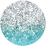 silver and teal glittery mount socket for back of smartphone