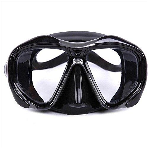 Zwembril Hoge Kwaliteit Silica Gel Duikbril Duikbril Duikmasker Met Band Impact Resistant Gehard Glas Duikmasker Zwembril Voor Volwassenen Scuba Snorkeling Freediving Bril Anti Mist UV Prote