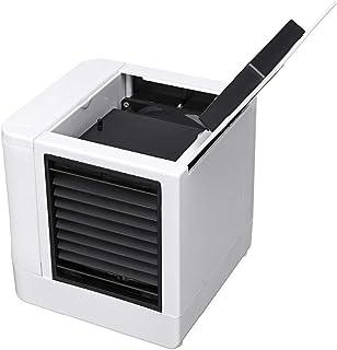 Refrigerador de aire personal, mini deshumidificador para espacio, ventilador de mesa portátil 4 en 1 con 3 velocidades de ventilador, mini aire acondicionado para el hogar, cable USB, silencioso