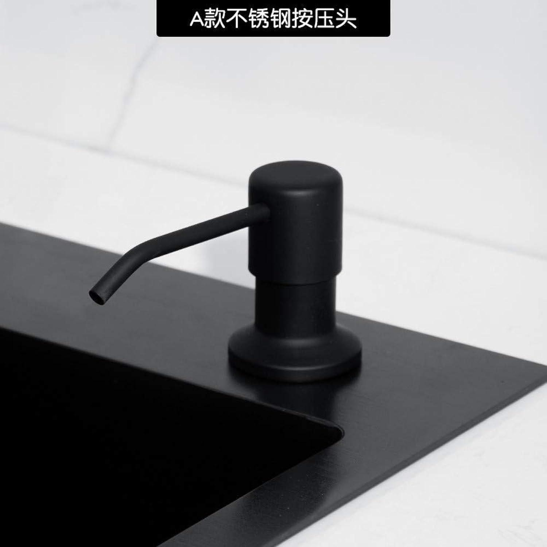 CBXSF Kitchen Sink Soap Detergent Bottle with A Large Capacity Sink Vegetables Basin Presser Black Detergent, A
