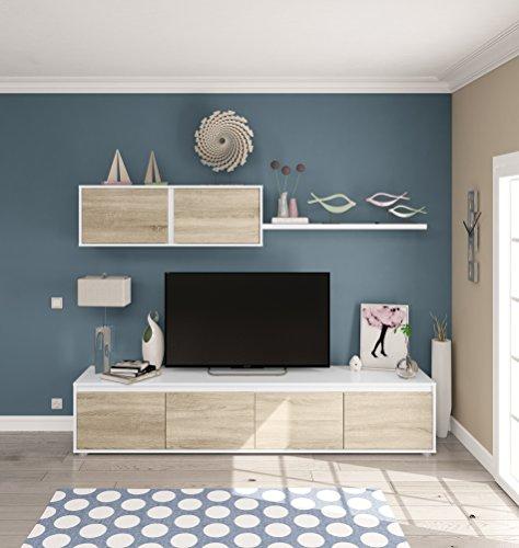 Miroytengo Mueble para salón Comedor Compuesto por Varios módulos en Color Roble...
