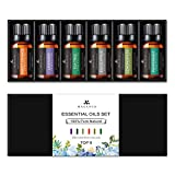 MAGANIO 2021 Upgraded Essential Oils Set [Long Lasting Aroma] 100% Pure Natural, 10ML Therapeutic Grade Essential Oil Use for Diffuser, Humidifier, Hair & Skin Care, DIY Candle, Soap, Body Lotion