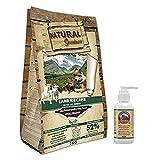 NATURAL GREATNESS - Pienso Natural de Cordero Sin Cereales para digestiones sensibles Saco 2 Kg + Aceite Salmón Grizzly 125 ml   ANIMALUJOS