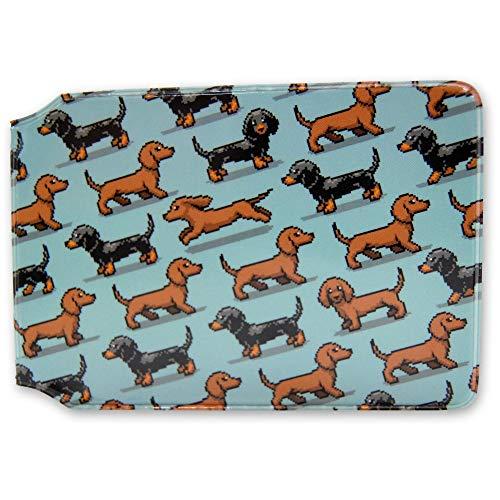 Pixel - Tarjetero para perro salchicha (perro salchicha)
