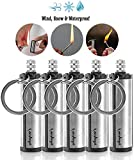 Splayman's Waterproof Permanent Match Lighter- Set of 5, Forever Match, Camp Fire Starter, Outdoor Survival Tool, Emergency Flint Stone Striker Lighter Match with Metal Keychain for Camping Hiking BBQ