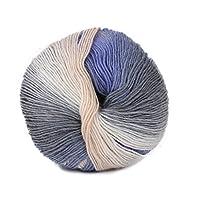 羊毛糸、Dabixx手編みレインボーカラフルなかぎ針編みカシミアウールブレンド糸 - 1ボール(50グラム) - 67#