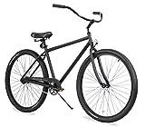 Firmstrong Black Rock Men's Single Speed Beach Cruiser Bicycle, 29-Inch, Matte...