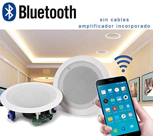 Audibax CM408L-BT Altavoces Techo Blanco Bluetooth 5' 40w...