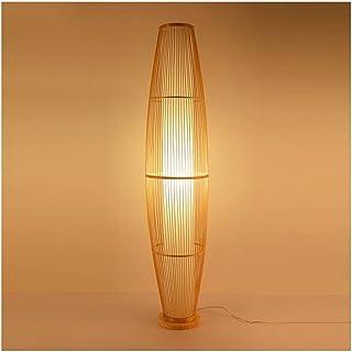 -Lampe de solon Lampadaire en bambou à la main Tissage Salon Chambre Étude Hôtel Couloir intérieur chaud Eclairage Décorat...