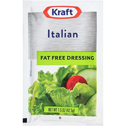 Kraft Italian Salad Dressing Fat Free (1.5oz Packets, Pack of 60)