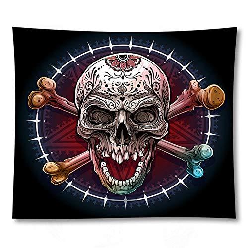 EDCV Tapestries Tafelkleed Doek Yoga Mat Home Decor Bohemian Tapestry 3D Skeletschedel Gedrukt Muur Opknoping, GT1715, 150 CM X 150 CM