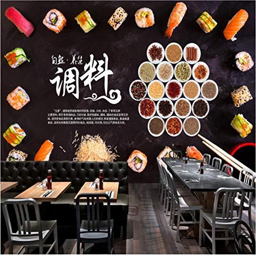 Dianer fotopapier, 3D, stereo, behang, personaliseerbaar, voor sushi, grill, hotpot, restaurant, keuken, hoogwaardig Size:250x175cm(98.43in By 68.90in)