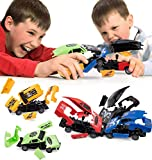 Pidoko Kids Crashing Cars 6 Pack - Pull Back Cars Crash and Take Apart Racers - Cool Toys for Boys 6, 7, 8, 9, 10 Year Old Gifts