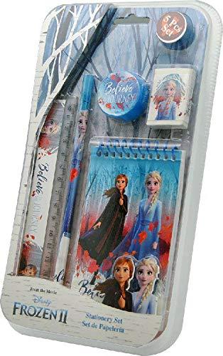 Kids Licensing KL82570, Schreibwarenset (5-teilig), Die Eiskönigin 2, Das perfekte Schreibwaren-Set für jeden Eiskönigin-Fan! Schreibwaren Set - Bleistift, Lineal, Notizblock, Radiergummi, Anspitzer