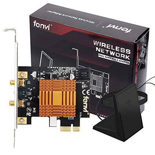 Desktop Dual Band 2.4Ghz 5Ghz Wireless-ac PCIe 1200mbps WiFi Card for...