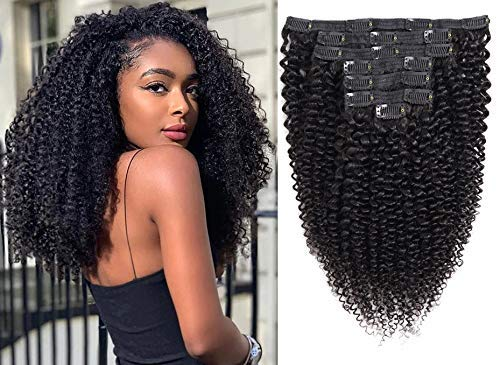 Kinky Curly Clip in Hair Beauty Large special price !! products Upgraded 4A Extensions 3C