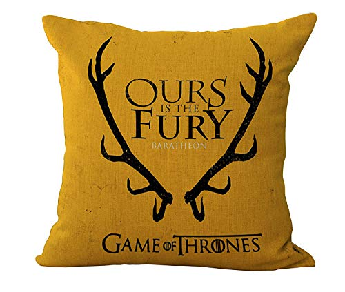 YXYLQ Game Of Thrones Pillow Cover 45X45Cm Polyester Cushion Cover Sofa Decorative Throw Pillows Living Room Home Decor Pillowcase-Linen_C1010-6