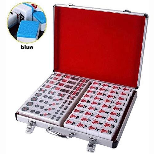 Big Shark Mahjong set met aluminium tegels formaat voor stijl gameplay draagbare mahong box aluminium behuizing grote tegels