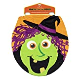 Hallmark 6MJN1508 Halloween Toilet Seat Cover with Talking Witch, Multi