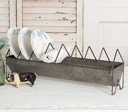 Rustic Metal Chick Feeder Plate Rack