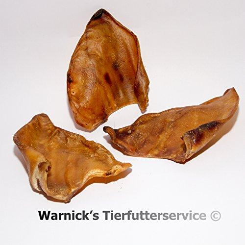 Warnicks Tierfutterservice Hundesnack, getrocknete Schweineohren 20 Stück a 45-50g