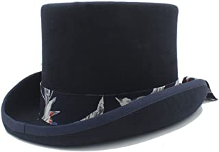 Xiang Ye DIY Steampunk Top Hat With Blue pattern cloth Hat for women