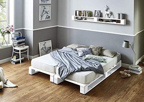 Estructura de Cama de palets color Blancos - Somieres de pal