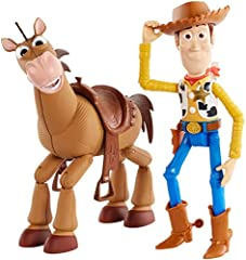 ​Story in a box with Disney and Pixar's Toy Story 4 Woody and Bullseye together. ​​Each figure comes in movie-inspired relative scale. ​​​Authentic designs, expressions and highly posable for great storytelling play.​ ​First offering of horse Bullsey...