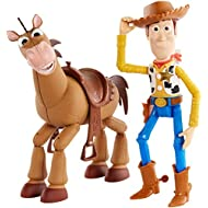 Disney and Pixar's Toy Story 4 Woody and Buzz Lightyear 2-Character Pack, Movie-inspired Relative-Scale for Storytelling Play [Amazon Exclusive]